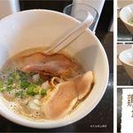 麺屋 號tetu - 鶏そば塩濃厚,麺屋 號tetu(滋賀県長浜市)食彩品館.jp撮影