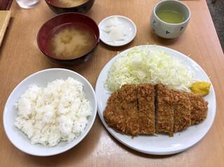 とんかつ山家 御徒町店 - 「上ロースかつ定食」1200円