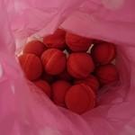 京手毬焼本舗 - 料理写真:袋の中身を撮りました。ちょっとわかりにくい写真ですかね?