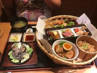 宮崎料理 万作 渋谷ヒカリエ店 - 花籠御膳