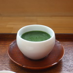 ほっこり桜カフェ - 冷抹茶