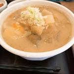 吉田とん汁店 - 料理写真:【2019年05月】豚汁定食、豚汁アップ。