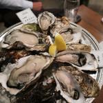 オイスターバー COVO - 岩牡蠣・真牡蠣3種食べ比べ