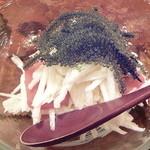 かごめ料理店 - 海ぶどうとシビ(まぐろ)と長芋シリシリー