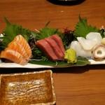 若大将 - 季節の鮮魚 日替り五点盛り ¥980―