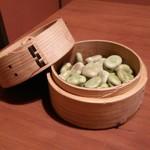 若大将 - そら豆の塩茹で ¥250―