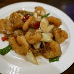 中国料理 甜甜酒楼 - 四川風エビチリ