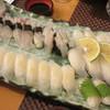 味処 大丸 - 料理写真:活イカの活造り 2150円~を特別に1杯分握りにして貰った日