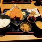 新潟地酒専門店 もんず - アジフライ定食