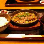 牛肉旬菜 しぐれや - 横浜みなとみらいの「しぐれや」の牛肉の鉄板焼き定食