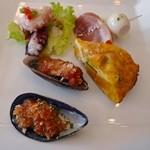 エル・チャテオ・デル・プエンテ - パエリアランチの前菜