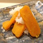 日本料理 太月 - 進肴 ①  からすみ飯蒸し