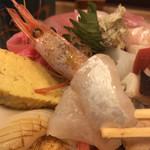 神東寿司 - 鯛などのネタ、ブリブリ