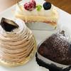 洋菓子倶楽部エーデルワイス - 料理写真:レアチーズ、モンブラン、ガトーショコラ