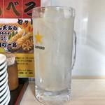 かっちゃん - 生レモンサワー(せんべろセット4杯目・サイコロ1つと交換)