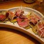 小料理 百けん - 牛タタキと焼きズッキーニのマリネ