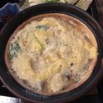 109309752 - 湯葉丼セットの湯葉の鍋