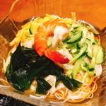 やまと庵 - 素麺の上に具をのせるのは、大阪ならでは!?