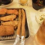 10932318 - 串揚げ アスパラ、豚とか (2011.12.23)