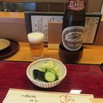 109320432 - お新香・ビール