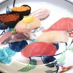 まわる寿司 博多魚がし - きわみセット¥1750(税抜)