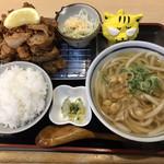 本場さぬきうどん なか川 - なか川名物  からあげ定食  900円(税込)