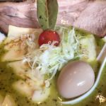 麺 藏藏 - バジルdeグリーン味噌 チーズプラス(アップ)♪