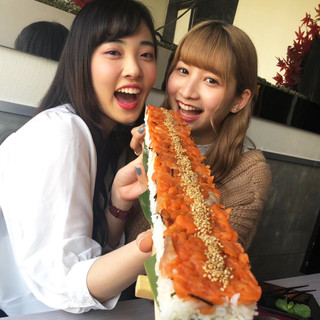 〇●SNSで話題沸騰!日本最長!?60センチのユッケ寿司●〇