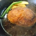 ミスタージョージ - 料理写真:熱々のハンバーグ(サワヤカソース)