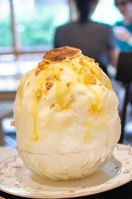 お茶と酒 たすき - レモンパイかき氷