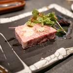 KNOT - ☆鴨とフォアグラとヤンバル島豚のパテ 1300円