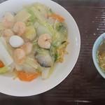 ちんりゅう - 料理写真:海老焼きそば