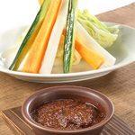 スティック野菜のバーニャ・味噌・カウダ