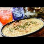 天ぷら 飛鳥 - 山芋とろろ鉄板焼き