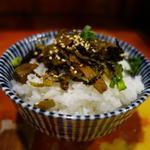 博多とんこつラーメン わ蔵  - 「高菜ご飯」味濃いめの高菜は豚骨スープとの相性よし