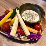109376193 - 彩り野菜の花畑バーニャカウダ