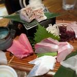 博多磯ぎよし - *「甘鯛炙り」「穴子」「鮪」「ヒラス」「太刀魚」「伊佐木」など。