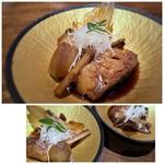 博多磯ぎよし - 甘鯛煮付け・・甘辛く好みのお味付けですけれど、これもお味が濃いですね。