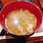 仁松庵 - 味噌汁