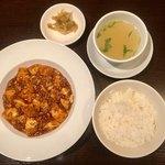 まつもと - 辛口 陳麻婆豆腐  1,130円 値段同じでハーフサイズにしてもらいました。