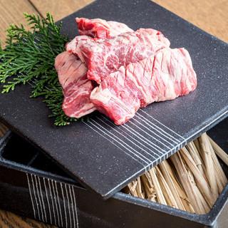 【当店名物】牧草牛の藁焼きハラミ