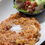 ワールドブックカフェ - 4種豆と魚介のトマトリゾット