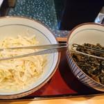 天ぷら 一修 - もやし&高菜炒め