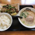 109399762 - レバニラ定食(ミニラーメン)