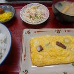 みどり食堂 - 明石タコ入り だし巻き玉子定食(860円税込)