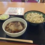 元祖 熊谷うどん 福福 - 肉汁うどん並盛400g(750円)