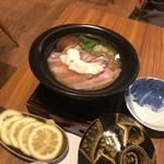銀座 遠音近音 - レモン鍋