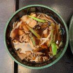 109415573 - 肉舞茸そば(冷) ¥500 のつけ汁