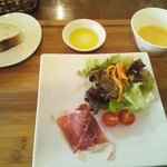 カラダにBENE - 料理写真:前菜・スープ・パン(ランチ)