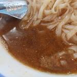 麺や 青雲志 - 焼鯵(かけ)のスープ